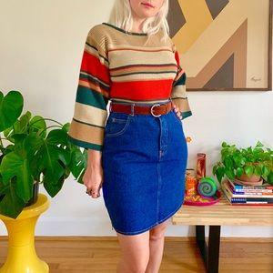 """Vintage 70s 80s Jordache denim mini skirt 28/29"""""""